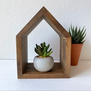 Wooden House Display Shelf